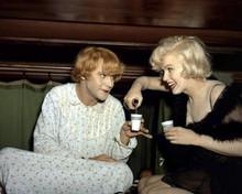 Some Like It Hot Marilyn Monroe Jack Lemmon drink in train bunk 12x18  Poster