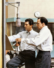 Frank Sinatra Dean Martin 1960's together in recording studio 12x18  Poster