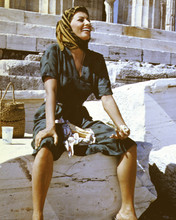 Legend of the Lost Sophia Loren on set pose between takes in Libya 12x18  Poster