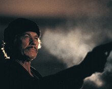 Death Wish II Charles Bronson in beanie pointing gun smoke behind 12x18  Poster