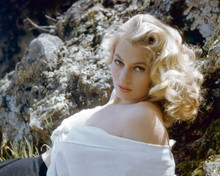 Anita Ekberg classic 1950's glamour pose with bare shoulder 12x18  Poster