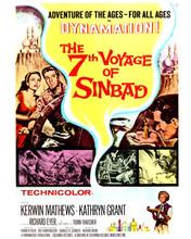 The 7th Voyage of Sinbad Kerwin Mathews movie poster art 12x18  Poster