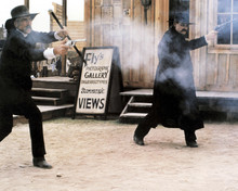 Tombstone Sam Elliott Kurt Russell gunfight in Tombstone street 12x18  Poster