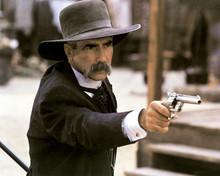 Tombstone Sam Elliott as Virgin Earp pointing gun 12x18  Poster