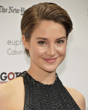 Shailene Woodley smiling candid pose in black dress 12x18  Poster