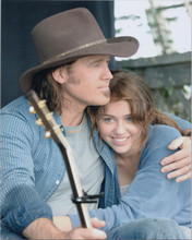 Billy Ray Cyrus with Miley Cyrus 8x10 press photo posing together