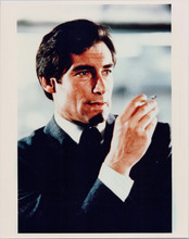 Timohty Dalton 8x10 photo as James Bond smoking cigarette Living Daylights
