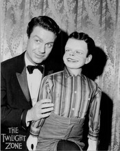 The Twilight Zone 1980's 8x10 publicity photo Cliff Robertson with dummy