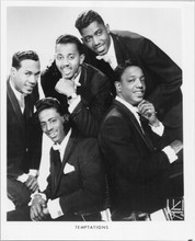 The Temptations 8x10 photo printed in 1970's classic group pose