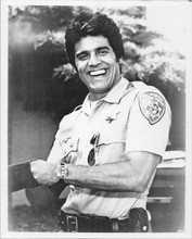Erik Estrada as Ponch 8x10 smiling photo from the 1970's CHIPS TV series