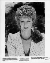 Maggie Smith 8x10 photo 1982 smiling portrait Evil Under The Sun