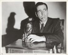 Humphrey Bogart with bird The Maltese Falcon 1970's 8x10 photo on fiber paper