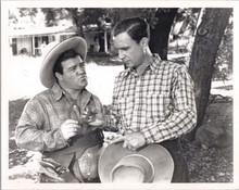 Abbott and Costello wearing western outfits 1980's 8x10 photo