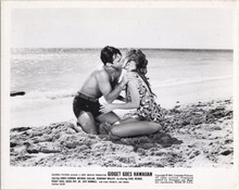 Gidget Goes Hawaiian original 1961 8x10 photo Deborah Walley James Darren kiss