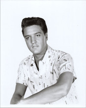 Elvis Presley 8x10 photograph wearing Hawaiian shirt for Blue Hawaii