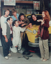 Taxi original 1970's 8x10 TV photo Hirsch Danza DeVito Kaufman & cast with cab
