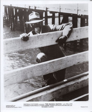 The Masked Marvel 8x10 photo William Forrest climbs fence