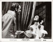 Castle of Blood original 1964 8x10 photo Barbara Steele George Riviere