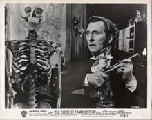 The Curse of Frankenstein original Hammer 1957 8x10 photo Peter Cushing with gun