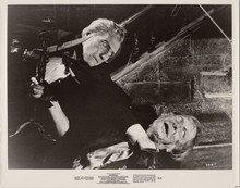Madhouse original 1974 8x10 photo Peter Cushing attacks Vincent Price