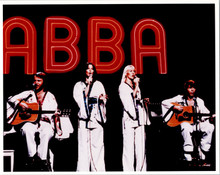 Abba vintage 1970's press photo of the group in concert 8x10 photograph