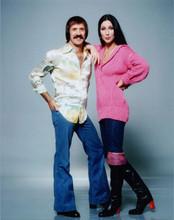 Sonny and Cher full length publicity portrait Sonny & Cher Show 8x10 photo