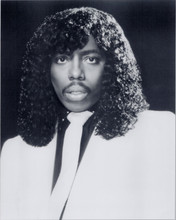 Rick James very cool 8x10 portrait photo in white suit and tie