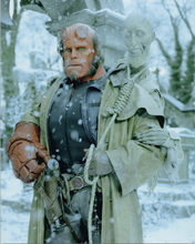 Ron Perlman 8x10 photo as Hellboy posing in snow landscape