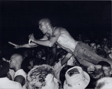 Henry Rollins 8x10 in concert press photo barechestedbeing passed over heads