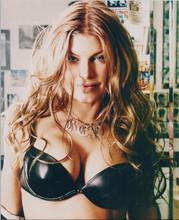 Fergie Duhamel 8x10 publicity photo busty pose in black bra 8x10 photo