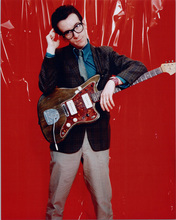 Elvis Costello 8x10 publicity photo with his guitar circa 1970's
