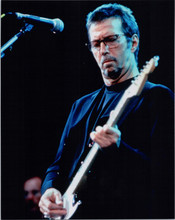 Eric Clapton 1990's performing in concert playing guitar 8x10 photo