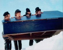 The Beatles in Help John Paul Ringo George pose in snow with piano 8x10 photo