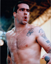Henry Rollins performs bare chested in concert 8x10 press photo