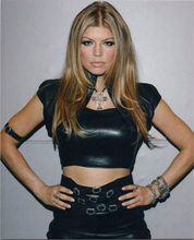 Fergie Duhamel 8x10 press photo posing for cameras in sexy leather top