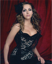 Charlotte Church busty pose in black lace dress 8x10 photo