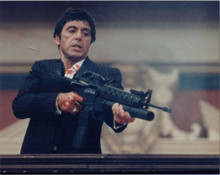 Al Pacino fires machine gun as Scarface 8x10 photo