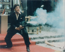 "Al Pacino in Scarface ""say hello to my little friend"" scene 8x10 photo"