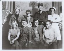 MASH TV series Alan Alda and cast seated 8x10 publicity pose