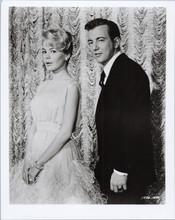 Bobby Darin Sandra Dee stand in front of studio curtain 8x10 photo