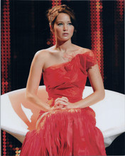 Jennifer Lawrence in red dress 8x10 photo Hunger Games