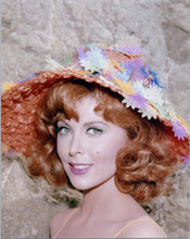 Tina Louise smiling portrait as Ginger in colorful hat Gilligan's Island 8x10