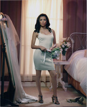 Eva Longoria sexy pose with cleavage in short white dress 8x10 photo