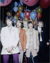 The Beatles John George Ringo & Paul late 1960's pose with balloons 8x10 photo