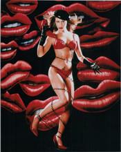 Alyssa Milano Charmed TV star in red bra & panties 8x10 photo