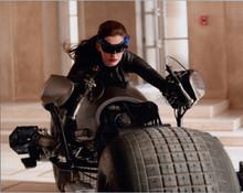 Anne Hathaway as Catwoman riding bike Dark Knight Rises 8x10 photo