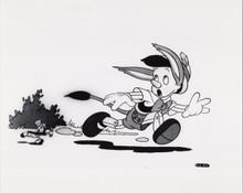 Pinocchio original 1980's 8x10 Disney photo Jiminy Cricket Pinocchio run