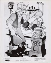 Pinocchio original Disney 1962 re-release 8x10 photo Gepetto makes Pinocchio