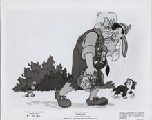 Pinocchio original Disney 1971 re-release 8x10 photo Gepetto carries Pinocchio