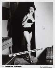 Please Don't Touch me 1963 exploitation flick original 8x10 sexy girl in bra